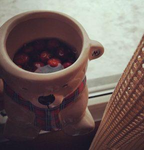 чай с шиповником дома